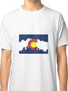 Colorado Skyline and Mountains Classic T-Shirt