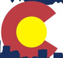 Colorado Skyline and Mountains Sticker