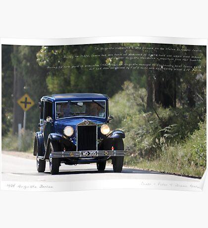 Lancia Augusta Berlina Poster