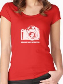 weapon of mass instruction Women's Fitted Scoop T-Shirt