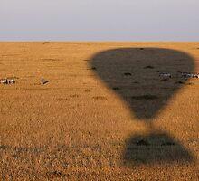 Balloon Silouette :: Masai Mara by Clinton Hadenham
