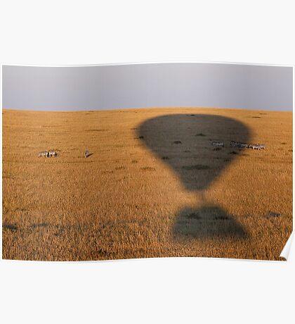 Balloon Silouette :: Masai Mara Poster
