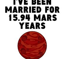 30th Anniversary Mars Years by GiftIdea