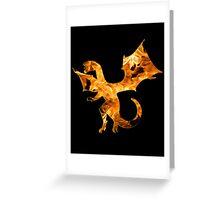 Flaming Dragon Greeting Card