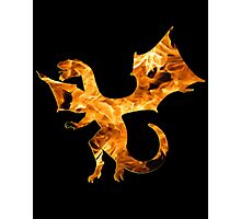 Flaming Dragon Photographic Print