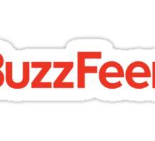 buzzfeed logo red Sticker