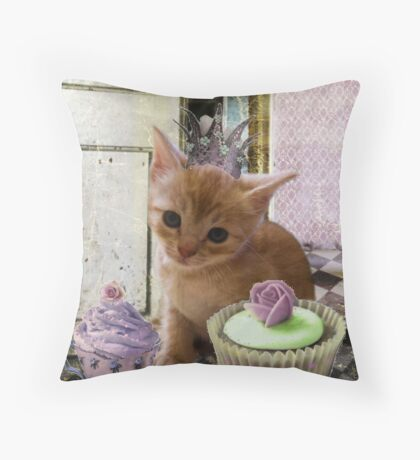 Party For One Kitten Throw Pillow