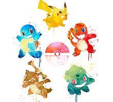 The 5 Elements ft. Ash's Pokemon by ploveprints