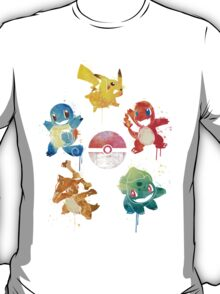 The 5 Elements ft. Ash's Pokemon T-Shirt