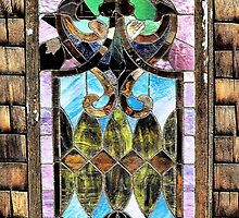 Old Stained Glass Window by Carla Jensen