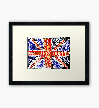 Wordy Britain Framed Print