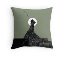 Looking at Night Throw Pillow
