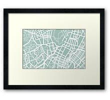 Minimal Maps - Tokyo J.P. Framed Print