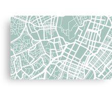 Minimal Maps - Tokyo J.P. Canvas Print