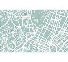 Minimal Maps - Tokyo J.P. Photographic Print