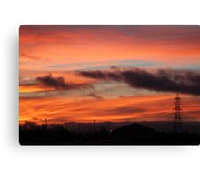 The Garage Up the Road Canvas Print