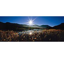 Tidal River Sunburst Photographic Print