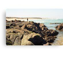 rock fishing Canvas Print
