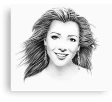 Alyson Hannigan Portrait Canvas Print