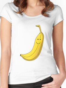 Banana Illustration. Women's Fitted Scoop T-Shirt
