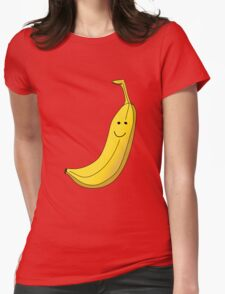 Banana Illustration. Womens Fitted T-Shirt