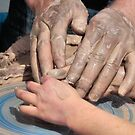 Father and Daughter, Hands In Clay by SuddenJim