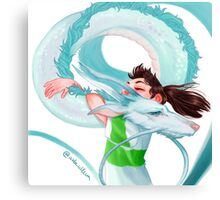 Chihiro & Haku Canvas Print