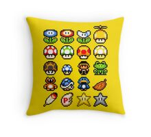 Powerups Throw Pillow