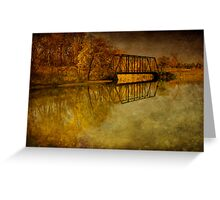 Rolling on the river Greeting Card