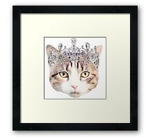 Cat with a Tiara Framed Print