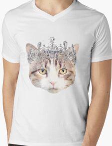 Cat with a Tiara Mens V-Neck T-Shirt