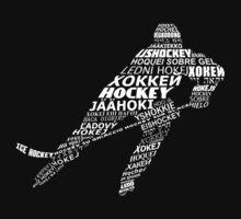 Typographic Hockey Languages   One Piece - Short Sleeve
