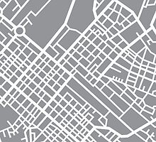Minimal Maps (Grey) - Cape Town S.A. by SamCarrHyde