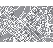 Minimal Maps (Grey) - Cape Town S.A. Photographic Print