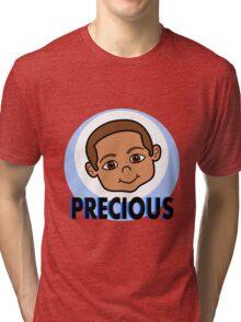 Cute Cartoon Smiling Boy Tri-blend T-Shirt