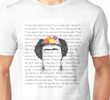 Personalised Frida Kahlo and quotes. Unisex T-Shirt