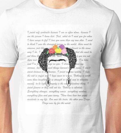 Personalised Frida Kahlo and quotes. Unisex T-Shirt