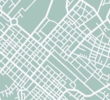 Minimal Maps (Green) - Cape Town S.A. by SamCarrHyde