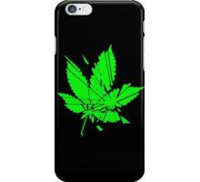 Marijuana Leaf cut to pieces iPhone Case/Skin