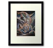 Man Floating Upside Down: The Book of Urizen Framed Print