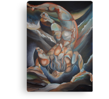 Man Floating Upside Down: The Book of Urizen Canvas Print