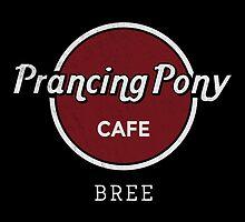 Prancing Pony Café (grey / red / dark) by sebisghosts