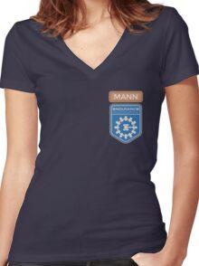 Mann Women's Fitted V-Neck T-Shirt
