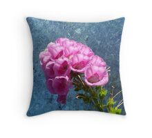 Foxglove with texture reaching for the sky. Throw Pillow