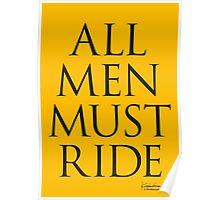 All Men Must Ride Poster