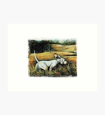 Hunting Dogs Art Print
