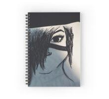 Wandering - Black Art Spiral Notebook