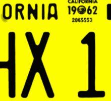THX 138 Licence Plate Original Sticker