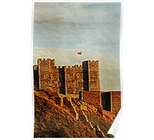 Dover Castle in late evening sunlight Poster
