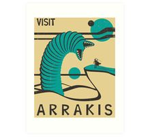 Arrakis Travel Poster Art Print